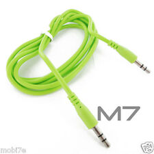 GREEN AUXILIARY CABLE CORD for LG PHONES - JACK 3.5mm CAR AUDIO AUX MALE WIRE