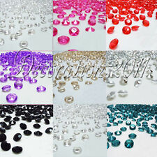 500PCS 4CT 10mm Diamond Table Confetti Decoration Wedding Party Colours