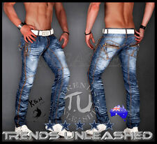 SIZE 31 &  35  AVAILABLE New Mens Kosmo Lupo Jeans Designer Italian Blue