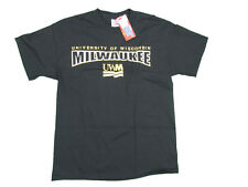 WISCONSIN MILWAUKEE PANTHERS ADULT BLACK SCREEN PRINTED T-SHIRT NEW