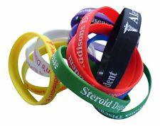 Addison's Disease Steroid Dependant Medical Alert Silicone Wrist Bands 1 band