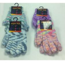 12 x Women Ladies Winter Warm Super Soft MICRO FIBRE FIBER Magic Gloves