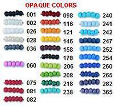 Czech Opaque Glass Seed Beads.Crafts & Jewelry  1 Hank Size 11/0