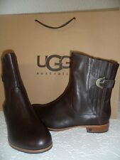 UGG FINNEGAN LEATHER BOOTS EXPRESSO or BLACK BNWOB