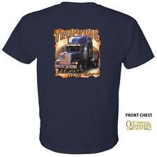Trucking All Over This Land Truck Driver Semi Tractor Trailer T-Shirt