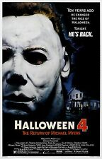 HALLOWEEN 4 The Return of Michael Myers Movie Poster Horror
