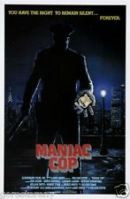 MANIAC COP Movie Poster Horror Slasher Gore