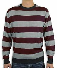 MEN'S STRIPED CREW-NECK SWEATER