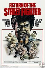 RETURN OF THE STREET FIGHTER Movie Poster Kung Fu Action Sony Chiba