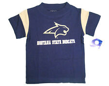MONTANA STATE BOBCATS KIDS TODDLERS NAVY WITH GOLD SHOULDER STRIPES T-SHIRT NEW