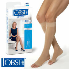 Womens Ultrasheer Compression Knee Stockings 15-20 mmhg Supports Open Toe Jobst