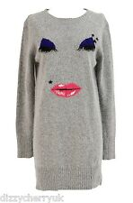 Yumi Lashes Jumper Dress Grey - BRAND NEW
