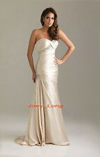 Long Strapless Wedding Gown Prom Evening Party Bridesmaid Pageant Dress in stock