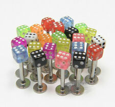 Wholesale Lots Dice Lip Ring 316L Stainless Steel Body Jewelry Piercing Labret