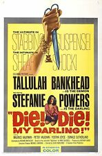 DIE DIE MY DARLING Movie Poster 1965 Horror