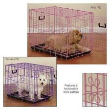 ProSelect Deco Dog Puppy Crates II  Strong & Stable Fold- Up Floral Design Pink