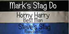 MENS CHEAP FUNNY STAG DO FANCY DRESS COSTUME TSHIRT PERSONALISED SASH ALLCOLOURS