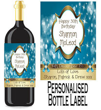 Personalised Bottle Label Birthday Gift Favour Wine, Spirit Or Champagne BDBL 5
