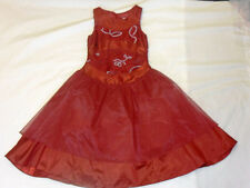 GIRLS BURGUNDY PARTY, PROM OR ANY OCCASION  DRESS AGE 7 - 14 YRS - BNWT
