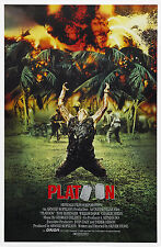 PLATOON Movie Poster 1986 RARE Charlie Sheen Veitnam Oliver Stone