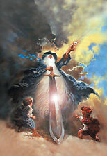 THE LORD OF THE RINGS Movie Poster RARE ART Gandalf The Hobbit