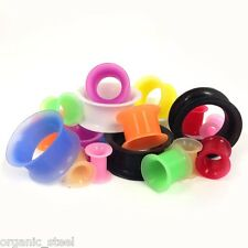 SILICONE Skin STRONG Thin Wall Ear Tunnel Stretcher 15 Sizes 5 Colours