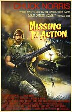 MISSING IN ACTION Movie Poster RARE Chuck Norris