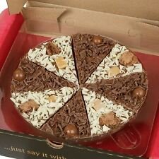 7 Inch Belgian Chocolate Pizza Party Celebration Birthday Gift Various Toppings