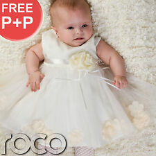 Baby Girls Ivory Cream Petals Dress Wedding Bridesmaid Flower Girl Cheap Dresses