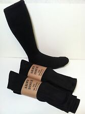 ELDER's Military Issue Anti Microbial Silver Enhanced Boot Sock Black    4 pairs