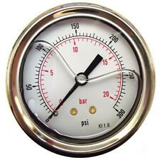 Pressure Gauge Glycerine Filled Back Connection 63mmØ