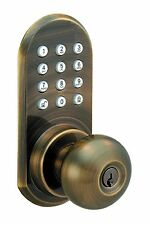 Remote Door Lock -  WIRELESS Door Lock - Knob w/ Keypad - Lock/Unlock Door RF