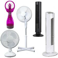 PEDESTAL OSCILLATING STAND FAN DESK FANS ELECTRIC TOWER STANDING HOME OFFICE