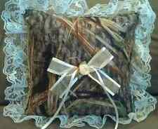 New Mossy Oak Shadowgrass Wedding Camo Ring Bearer Pillow w/choice of lace color