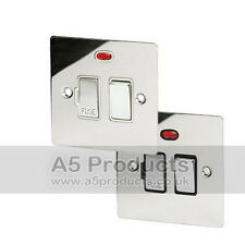13 Amp Fused Spur Switch with Neon indicator in Polished Chrome Flat Style