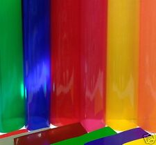A4 ROLL/SHEET TRANSPARENT COLOURED WINDOW FILM SELF ADHESIVE VINYL FABLON TYPE