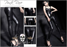 Punk rock heavy metal Jaguar woman leatherette skinny legging pants K143 B