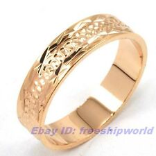 Size 7,8,9,10 Ring,REAL LUXURIANT 18K ROSE GOLD GP EMPAISTIC SOLID FILL GEP