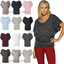 Bella Flowy Draped Sleeve Blended Dolman T Shirt Womens Tee S M L XL 2XL 8821