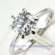 Size 6,6.5,7,8,9 Ring,REAL POSH 1.25Ct GEMSTONE 18K WHITE GOLD GP SOLID FILL GEP