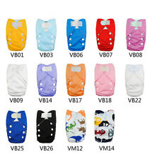 Alva Newborn Baby Cloth Diapers Washable Reusable+1 Microfiber Inert velcro V
