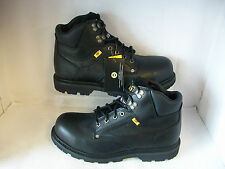 MENS CATERPILLAR  SAFETY BOOTS STYLE NAME GROUSER ST COLOUR BLACK LEATHER UPPER