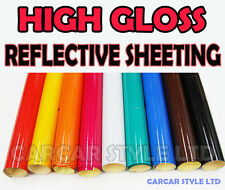 【HIGH Gloss】Reflective Sheet Vehicle Wrap Vinyl Sticker ALL SIZE / ALL COLOURS