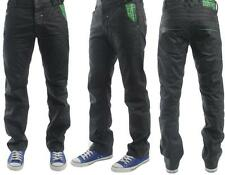 ENZO LATEST ARRIVALS  BLACK-COATED CLASSIC FIT JEANS. BNWT *BARGAIN PRICE*