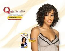 "Que by Milky Way Short Cut Series 100% HUMAN HAIR Master Mix WATER DEEP 8"" 5PCS"