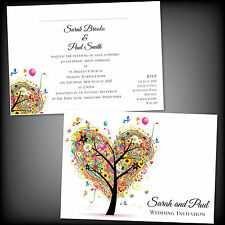 Personalised Wedding Day and or Evening Only Invitations Invites Summer Stylish