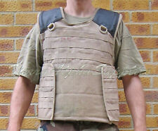 BRITISH ARMY SURPLUS DESERT TAN OSPREY SOLO BODY ARMOUR MOLLE VEST COVER G2