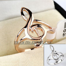Fashion  'I Love Music' Band Ring 18KGP Size 5.5-10