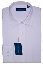 Mens Peter England Lilac Plain Non-Iron Shirt - Large Sizes 18.5 to 23 Available