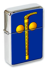 Tubal Cain (Two Ball and Cane) Masonic Flip Top Lighter in a Gift Tin